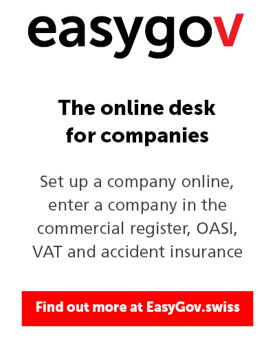 EasyGov logo and link to the online desk for companies