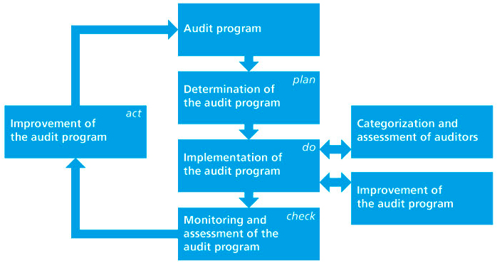 Diagram. Shows the process of an audit programme