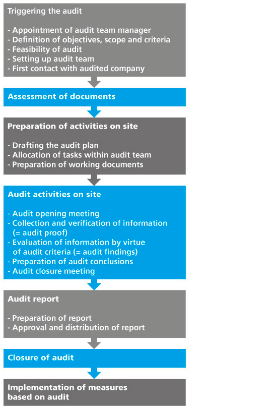 Diagram. Shows the typical activities of an audit